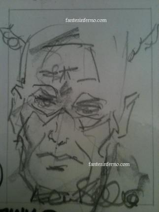Captain America drawn by Allen Bellman