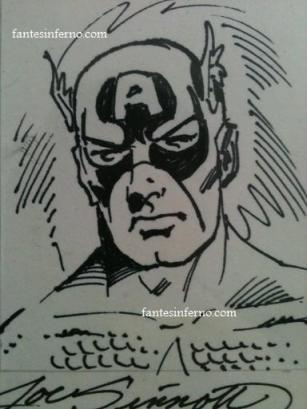 Captain America drawn by Joe Sinnott