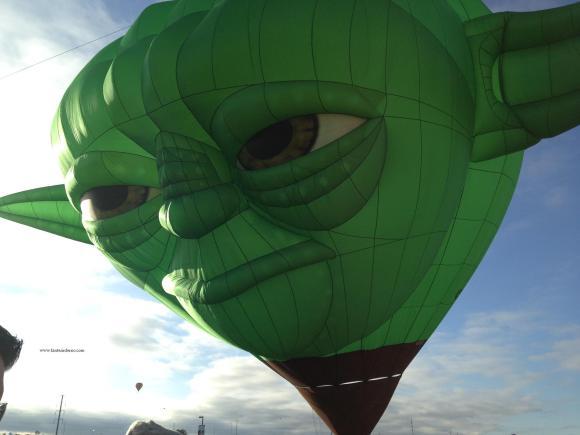 Yoda prepares for liftoff at the 2014 Albuquerque Hot Air Balloon Fiesta