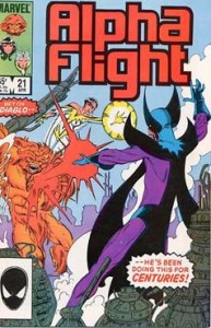 Alpha Flight 21 Cover