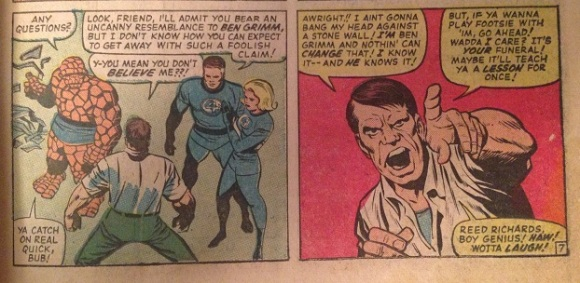 Fantastic Four #51 panels